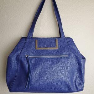 Nine West Faux Leather Blue Handbag/ Purse